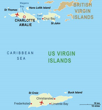 maps us virgin islands